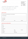Lawyers Management Liability Policy Notification of Claim or Circumstance Form